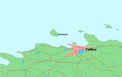Location of Naissaar