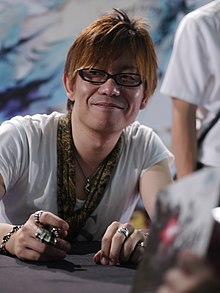 Yoshida at the Japan Expo in Paris (2013)