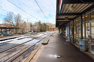 Narberth, Pennsylvania - SEPTA commuter rail station at Narberth, PA