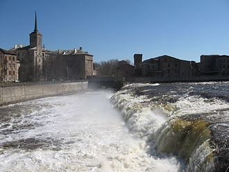Narva River - The Narva Waterfall (eastern part) in spring 2010