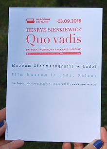 National Reading of 'Quo vadis' by Henryk Sienkiewicz in Łódź 2016 00.jpg