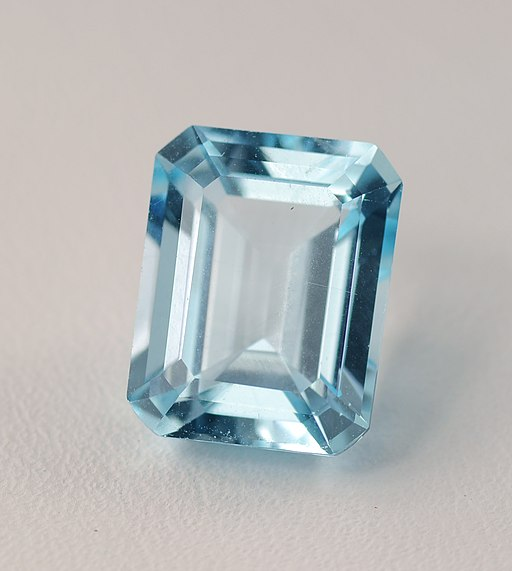 Natural blue topaz gemstone
