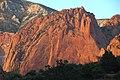 Navajo Sandstone at sunset (Lower Jurassic; northern Kolob Canyons, Zion National Park, Utah, USA) 7 (8423919527).jpg