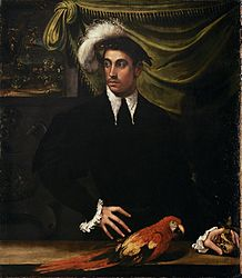 Niccolò dell'Abbate: Man with Parrot