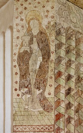 Nederluleå Church - One of the medieval frescos, made by a pupil of Albertus Pictor
