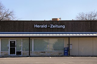 <i>New Braunfels Herald-Zeitung</i> newspaper in New Braunfels, Texas