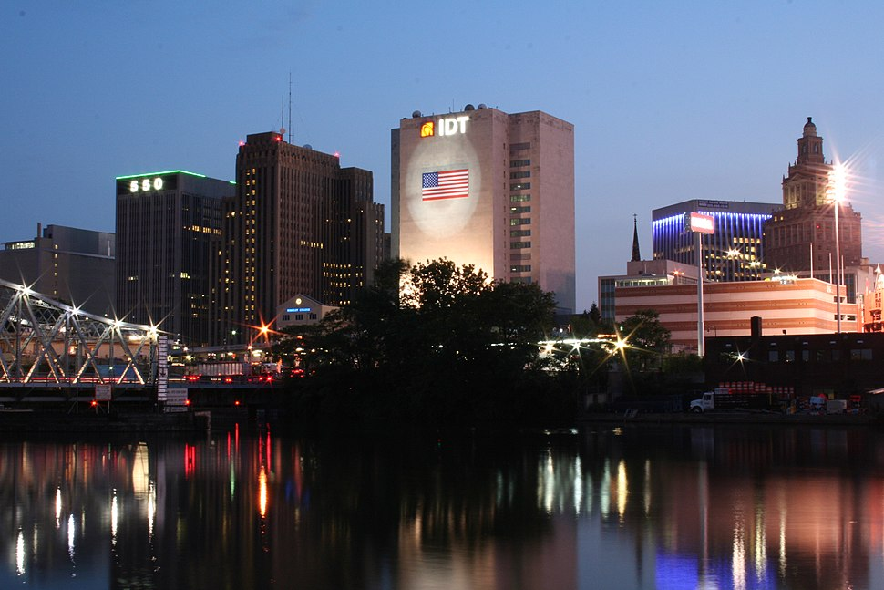 Newark, New Jersey at night