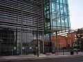 Newcastle City Library street overhang.JPG