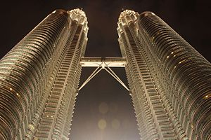 Petronas Towers - Night View of Petronas Twin Tower