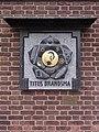 Nijmegen Titushof, De Vredesapostel (relief Titus Brandsma) Jos Mertens 2008.JPG