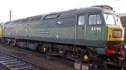 No.D1705 (BR no.47117) Sparrowhawk (Class 47) (6778706087) (2).jpg