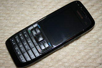 Form factor (mobile phones) - Image: Nokia E51 Black