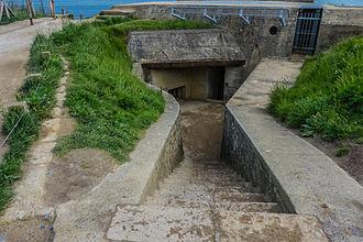 Pointe du Hoc - Surviving observation bunker at the Pointe du Hoc