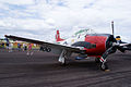 North American T-28A Trojan Navy NX28100 RSideFront SNF 16April2010 (14607423176).jpg