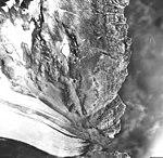 Northeastern Glacier, terminus of valley glacier, and glacial remnants, August 22, 1968 (GLACIERS 6676).jpg