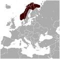 Norway Lemming Lemmus lemmus distribution map.png