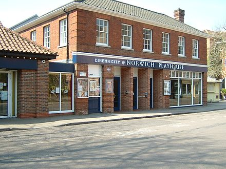Norwich Playhouse, located on St. George's Street NorwichPlayhouse.JPG