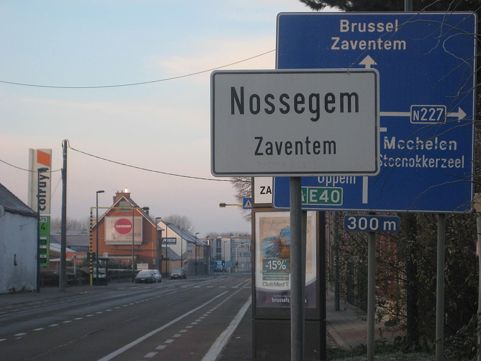 The main road between Brussels and Leuven in Nossegem