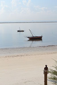 Nyali Beach from the Reef Hotel during high tide and still conditions in Mombasa, Kenya 4.jpg