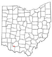 Location of Mowrystown, Ohio
