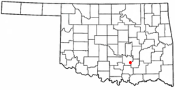 Location of Stonewall, Oklahoma