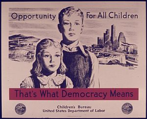 OPPORTUNITY FOR ALL CHILDREN. THAT'S WHAT DEMO...