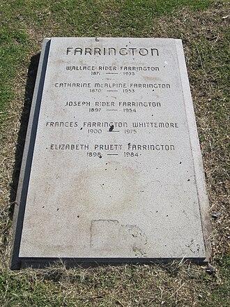 Mary Elizabeth Pruett Farrington - Farrington grave marker in Oahu Cemetery
