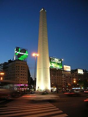 Alberto Prebisch - Image: Obelisk at night