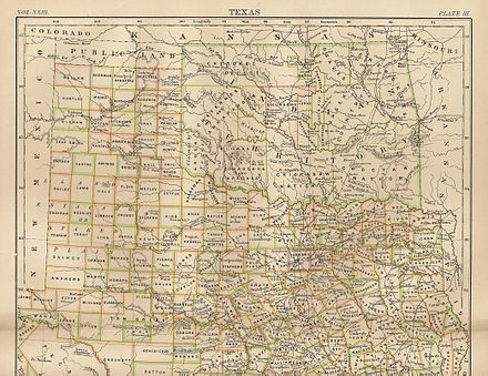 Map of Indian Territory (Oklahoma) 1889. Britannica 9th ed. Oklahoma1885.jpg