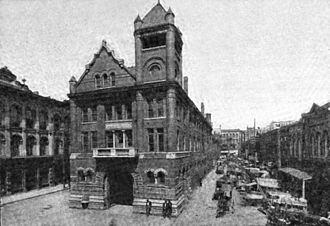 Market Square, Knoxville - The second Market House, built in 1897