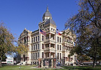 Denton, Texas - Denton County Courthouse-on-the-Square
