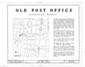 Old Post Office, Merchant and Bethel Streets, Honolulu, Honolulu County, HI HABS HI,2-HONLU,22- (sheet 1 of 10).png