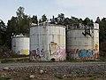 Old chemical tanks in Kruunuvuorenranta, Helsinki, Finland, 2018.jpg