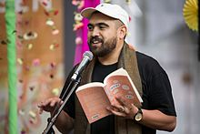 Omar Musa at Jaipur Literature Festival, Federation Square Melbourne 2017.jpg