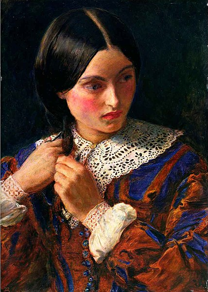 File:Only a Lock of Hair, by John Everett Millais.jpg