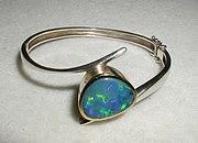 A modern opal bracelet from Australia.