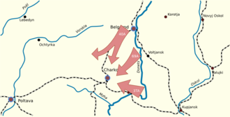 Operation Star - Operation Star; Soviet advances between 10 and 14 February 1943