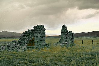 George Hearst - Ophir Mill ruins, Comstock Lode. The Ophir Mine is where Hearst made his first fortune, in 1859.