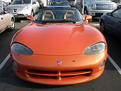 Orange Dodge Viper SRT-10 front.JPG