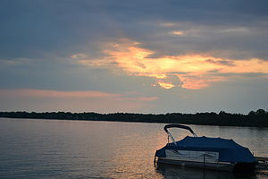 Orchard Lake (Michigan) - Sunset on Orchard Lake, Michigan