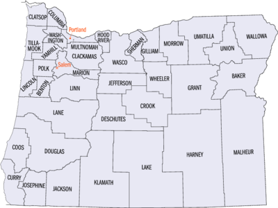 Lijst Van County S In Oregon Wikipedia