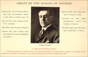 New world order (politics) - Woodrow Wilson and the Origin of the League of Nations