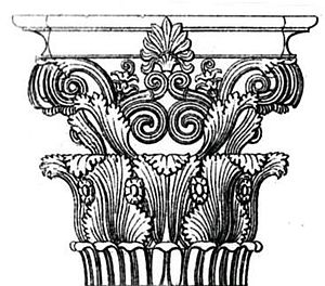 Choragic Monument of Lysicrates - Original Corinthian capital from the Monument of Lysicrates in Athens 335 BC.