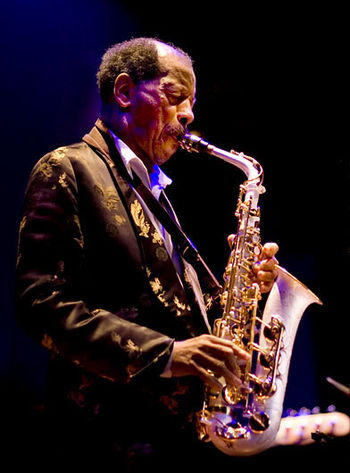 English: Ornette Coleman at Enjoy Jazz Festiva...