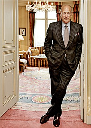 Oscar de la Renta - Óscar de la Renta at the Hotel Ritz, Madrid during a visit to Spain in 2008