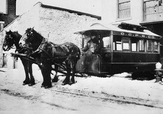 Ottawa Electric Railway - Ottawa City Passenger Railway Company Ottawa c1871, Horse drawn streetcar