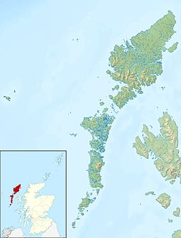 Vatersay is located in Ooter Hebrides