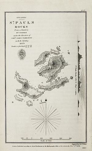 Saint Peter and Saint Paul Archipelago - Chart of 1839 by HMS ''Erebus''