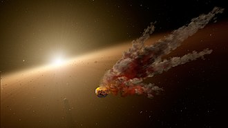 KIC 8462852 - Artist's impression of a massive collision with a proto-planet