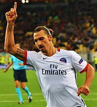 66250b7aa Ibrahimović playing against Shakhtar Donetsk in the group stage of the UEFA  Champions League